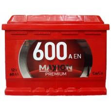 Аккумулятор 6ст-60 а.ч. MAXION